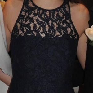 Navy Blue Lace Party Dress - J. Crew- Size 0